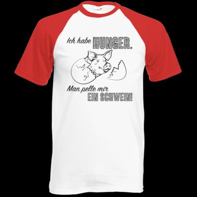 Motiv: Baseball-T FAIR WEAR - Sizzle Brothers - Grillen - Schwein pellen