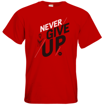 Motiv: T-Shirt Premium FAIR WEAR - NeverGiveUp - red