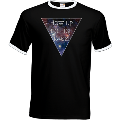 Motiv: T-Shirt Ringer - High Knee Galaxy