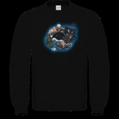 Motiv: Sweatshirt FAIR WEAR - Let's Plays - Schiff der verlorenen Seelen - Chibi - glow