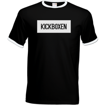Motiv: T-Shirt Ringer - SMD - Kickboxen