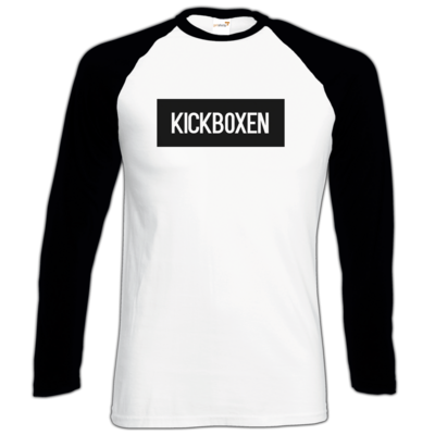 Motiv: Longsleeve Baseball T - SMD - Kickboxen