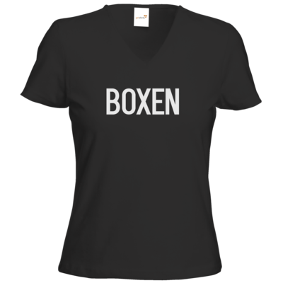 Motiv: T-Shirt Damen V-Neck Classic - SMD - Boxen