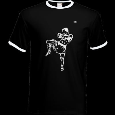 Motiv: T-Shirt Ringer - SMD - Kickboxer