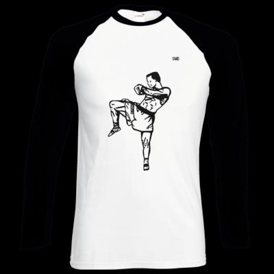 Motiv: Longsleeve Baseball T - SMD - Kickboxer