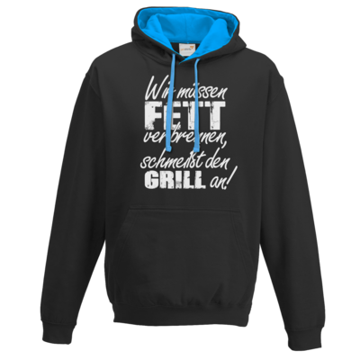 Motiv: Two-Tone Hoodie - SizzleBrothers - Grillen - Fett verbrennen