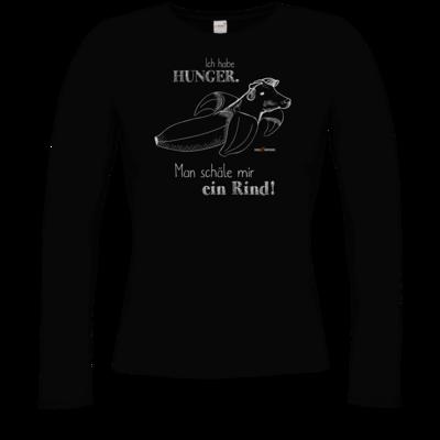Motiv: Longsleeve Damen FAIR WEAR - SizzleBrothers - Grillen - Hunger Rind schälen