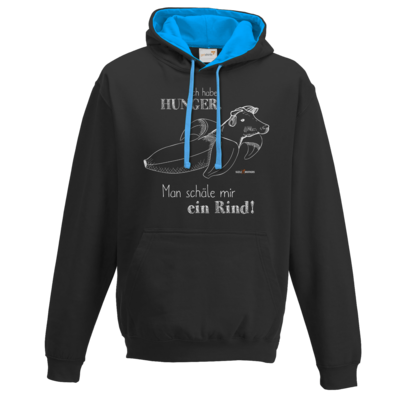 Motiv: Two-Tone Hoodie - SizzleBrothers - Grillen - Hunger Rind schälen