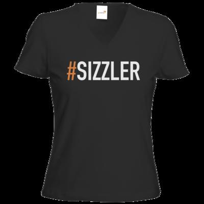 Motiv: T-Shirts Damen V-Neck FAIR WEAR - SizzleBrothers - Grillen - Sizzler