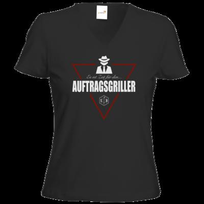 Motiv: T-Shirts Damen V-Neck FAIR WEAR - SizzleBrothers - Grillen - Auftragsgriller