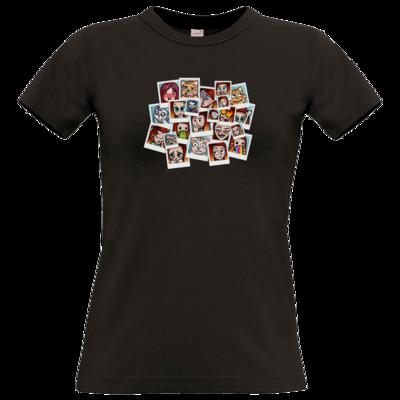 Motiv: T-Shirt Damen Premium FAIR WEAR - Inzaynia - Emotes