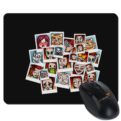 Motiv: Mousepad Textil - Inzaynia - Emotes