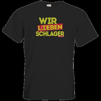 Motiv: T-Shirt Premium FAIR WEAR - Wir l(i)eben Schlager