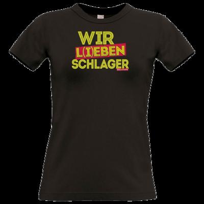 Motiv: T-Shirt Damen Premium FAIR WEAR - Wir l(i)eben Schlager