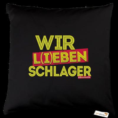Motiv: Kissen Baumwolle - Wir l(i)eben Schlager