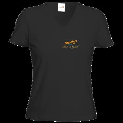 Motiv: T-Shirt Damen V-Neck Classic - Discofox FM - Musik mit Gefuehl