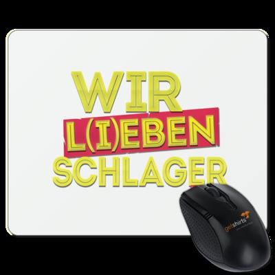 Motiv: Mousepad Textil - Wir l(i)eben Schlager