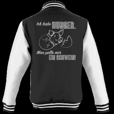 Motiv: College Jacke - Sizzle Brothers - Grillen - Schwein pellen