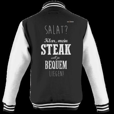 Motiv: College Jacke - SizzleBrothers - Grillen - Salat Steak bequem