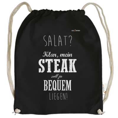 Motiv: Cotton Gymsac - SizzleBrothers - Grillen - Salat Steak bequem