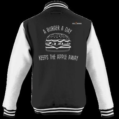 Motiv: College Jacke - SizzleBrothers - Grillen - Burger Apple