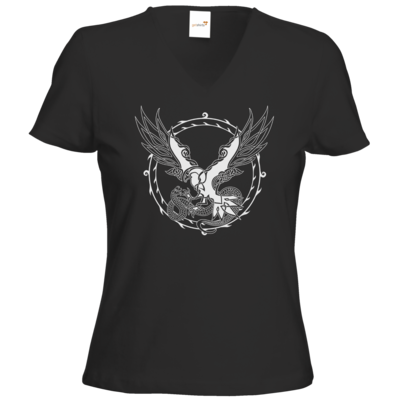 Motiv: T-Shirts Damen V-Neck FAIR WEAR - Phileasson - Walknoten uni
