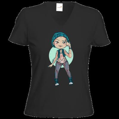 Motiv: T-Shirts Damen V-Neck FAIR WEAR - Cadniss - Motiv 1