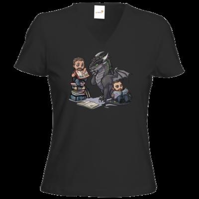 Motiv: T-Shirts Damen V-Neck FAIR WEAR - Ulisses - Chibi - Vlog