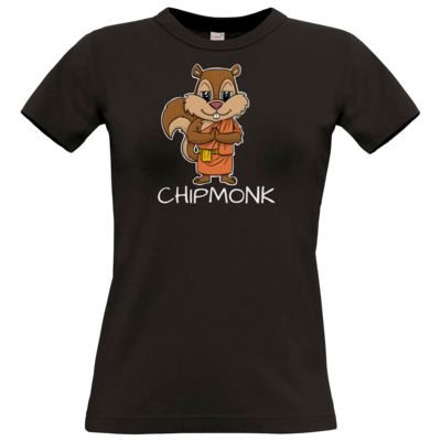 Motiv: T-Shirt Damen Premium FAIR WEAR - drawinkpaper - Chipmonk 1