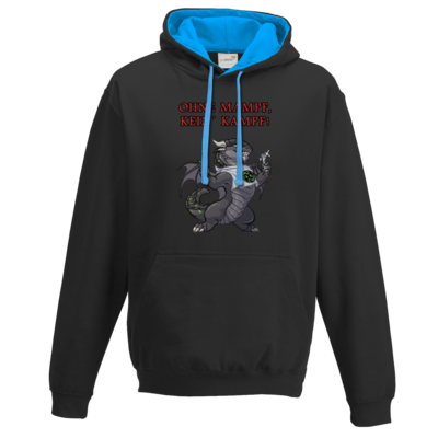 Motiv: Two-Tone Hoodie - Ulisses - Ohne Mampf kein Kampf