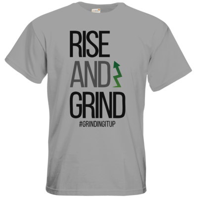 Motiv: T-Shirt Premium FAIR WEAR - grindingitup - rise and grind