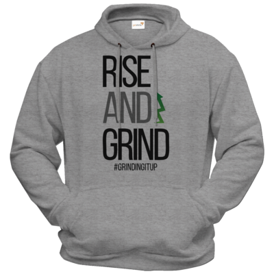 Motiv: Hoodie Premium FAIR WEAR - grindingitup - rise and grind