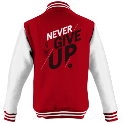 Motiv: College Jacke - NeverGiveUp - red