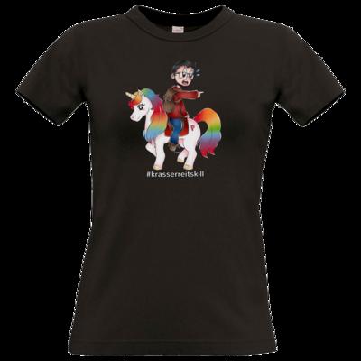 Motiv: T-Shirt Damen Premium FAIR WEAR - DerPeci - Reitskill