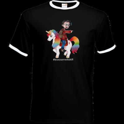 Motiv: T-Shirt Ringer - DerPeci - Reitskill