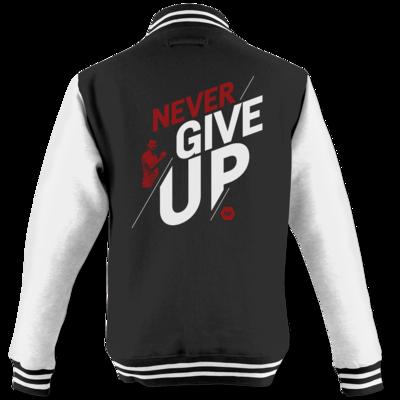 Motiv: College Jacke - NeverGiveUp