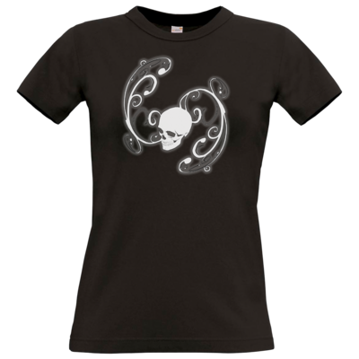 Motiv: T-Shirt Damen Premium FAIR WEAR - Ornamental Skull