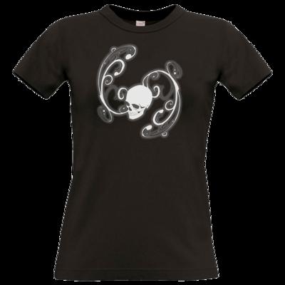 Motiv: T-Shirt Damen Premium FAIR WEAR - Ornamental Skull