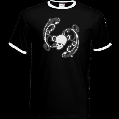 Motiv: T-Shirt Ringer - Ornamental Skull