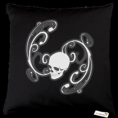 Motiv: Kissen Baumwolle - Ornamental Skull