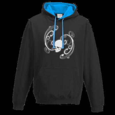 Motiv: Two-Tone Hoodie - Ornamental Skull