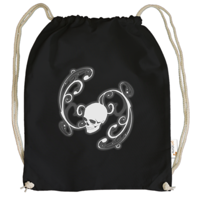 Motiv: Cotton Gymsac - Ornamental Skull