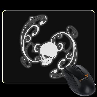 Motiv: Mousepad Textil - Ornamental Skull