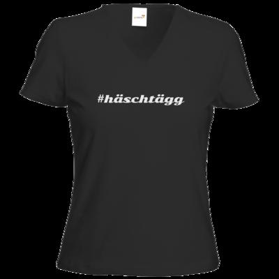 Motiv: T-Shirt Damen V-Neck Classic - Hashtag
