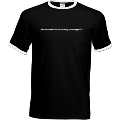 Motiv: T-Shirt Ringer - Hashtag Nackensteak