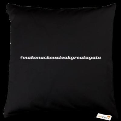 Motiv: Kissen Baumwolle - Hashtag Nackensteak