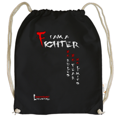 Motiv: Cotton Gymsac - Kampfkunst Lifestyle - I am a Fighter