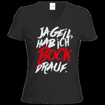 Motiv: T-Shirts Damen V-Neck FAIR WEAR - Micha Bros. - Bock