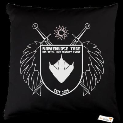 Motiv: Kissen Baumwolle - Namenlose Tage - Wappen Kissen