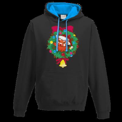 Motiv: Two-Tone Hoodie - Syrenia - Christmas